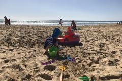 Buddeln am Strand von Fuerteventura